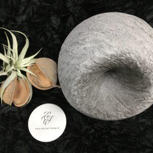 Menschenurne-Kugel-sanfte-Streifen-Struktur-grau-Dekorationsmulde-XXL-12kg