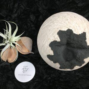 Menschenurne-Kugel-rauhe-Struktur-beige-Dekorationsmulde-Dekosand-schwarz-XXL-12kg