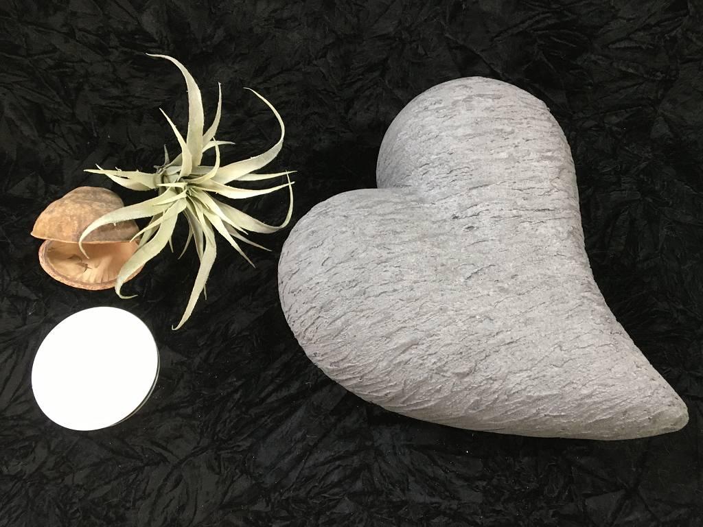 XL Urne breit gezogen pombiert anthrazit