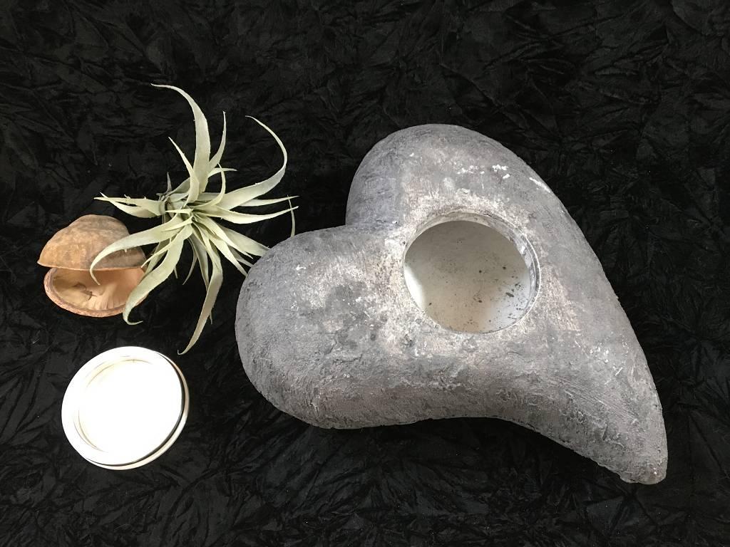 XL Urne breit rustikal pombiert anthrazit2
